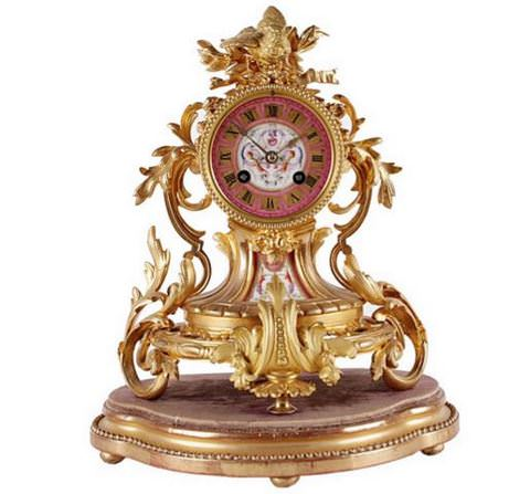 灵魂Carioca_Mantle_Clock_Frances_do_Sec.19th_1
