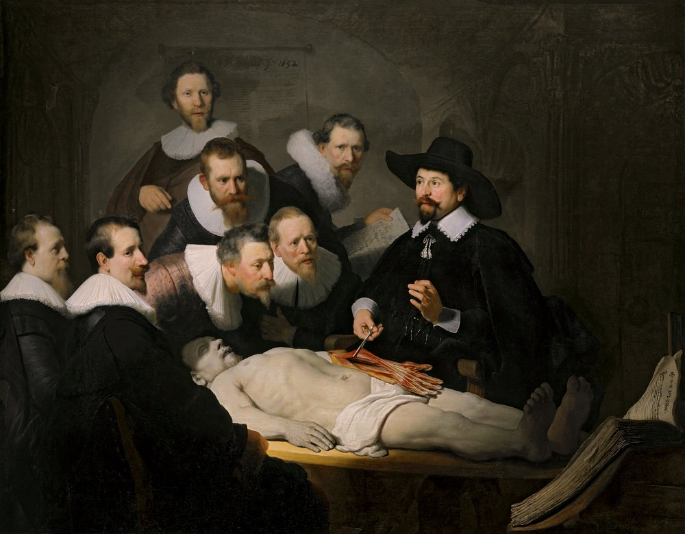The Anatomy Lesson of Dr. Nicolaes Tulp by Rembrandt Harmensz van Rijn