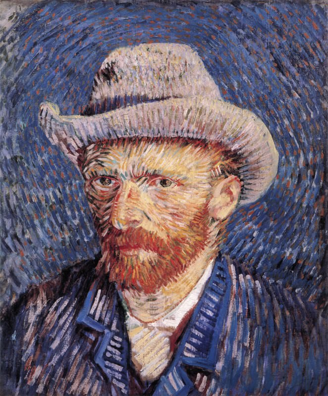Self-Portrait with Felt Hat de Vincent Van Gogh