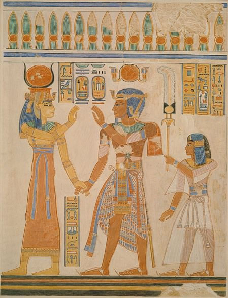 Fico. 2 - FAC SIMILE pittura dalla tomba del faraone Ramses III, New Empire, 20ª. Dinastia, regno di Ramses III, 1184 - 1153 C.A., Egitto. Rogers Fund, 1933 (33.8.7). Immagine: © The Metropolitan Museum of Art.