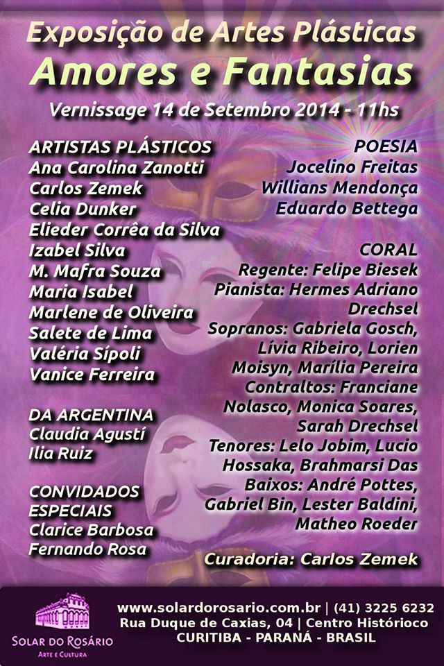 "Fine Arts Exhibition ""Amores e Fantasias"""