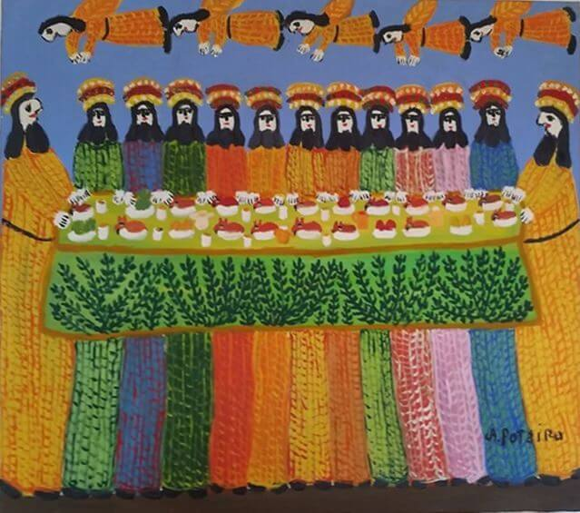 Fig. 2 – Last Supper, OST, 90 cm x 1 meters. Antônio Poteiro.
