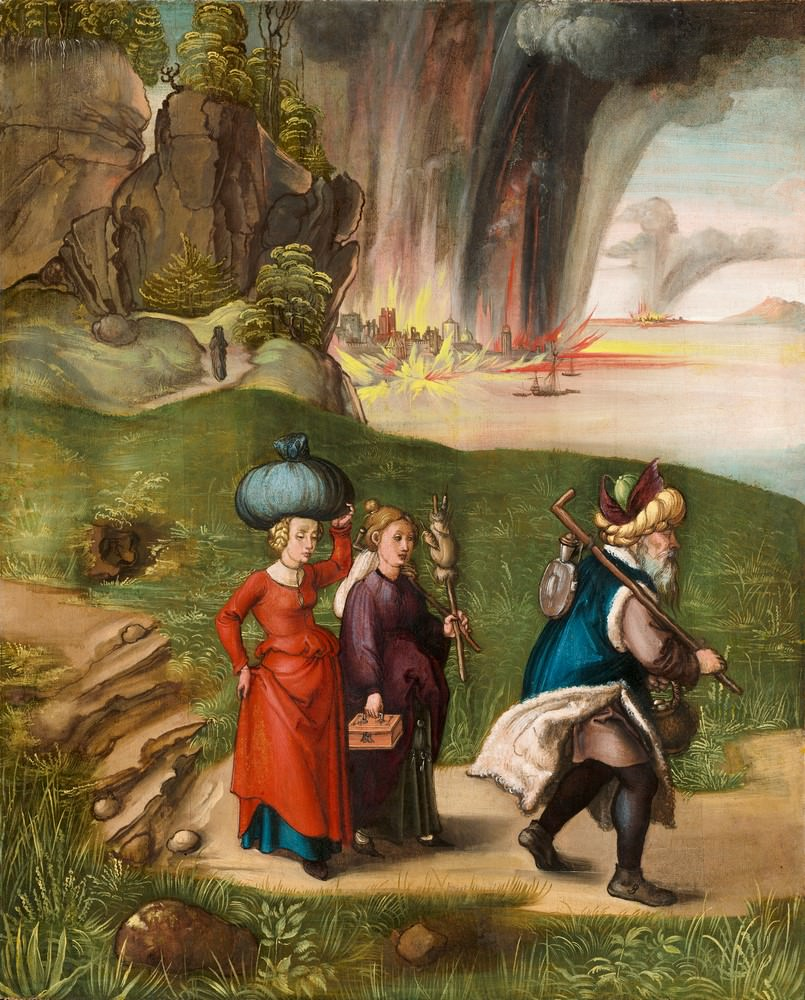 Lot und seine Töchter, 1496/1499, Albrecht Dürer (Deutsch, 1471 - 1528 ), Samuel H. Kress Collection.
