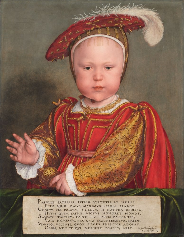 Edward VI quando era Criança, provavelmento 1538, Hans Holbein the Younger (German, 1497/1498 - 1543 ), Andrew W. Mellon Collection.