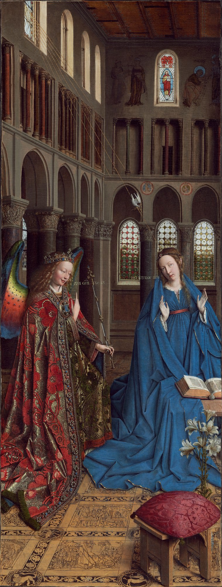 such as The Annunciation, 1434/1436, Jan van Eyck.