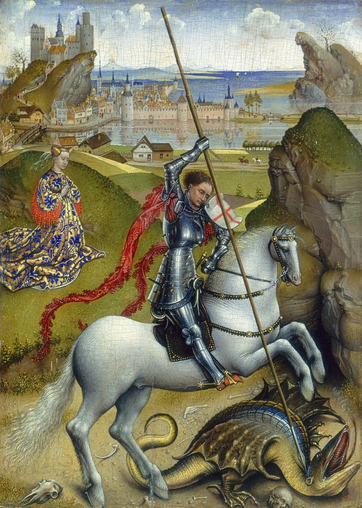St. Georg und der Drache, 1432/1435, National Gallery of Art, Washington.