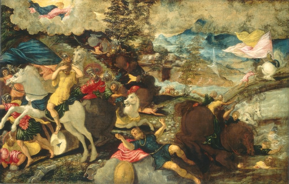 Die Umwandlung von Saint Paul, Jacopo Tintoretto, 1545, Samuel H. Kress Collection.