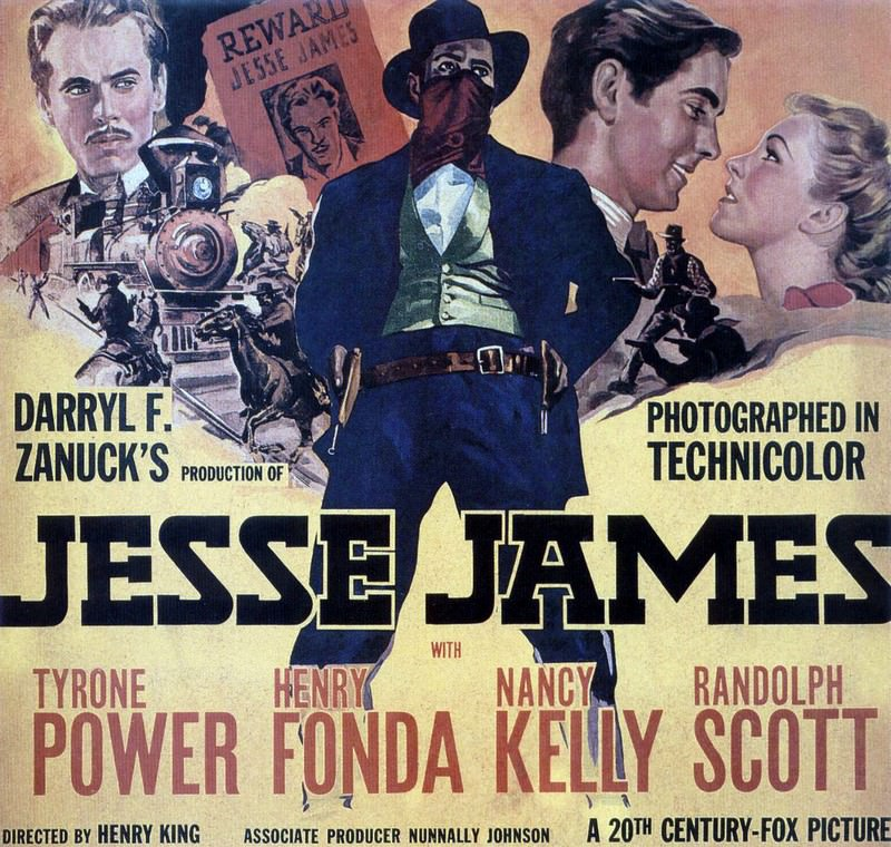 Poster Jesse James, 1939. Divulgation de photo.