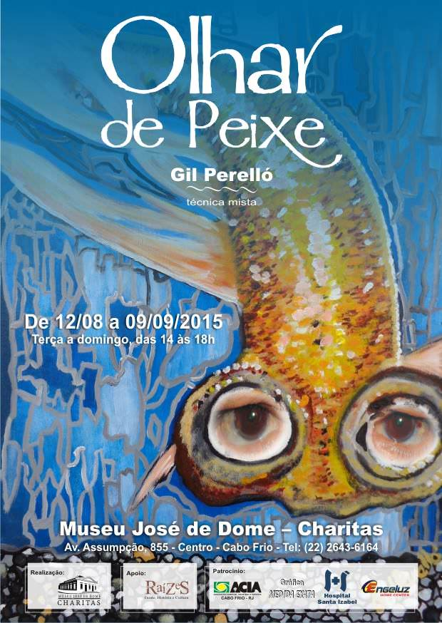 Invitation Exhibition of Fish look Gilberto Perelló. Photo: Disclosure.