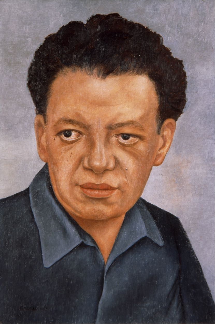 Fig. 2 -Frida Kahlo, Portrait of Diego Rivera, 1937, Oil on Masonite, 46 x 32 cm, © 2015 Bank of Mexico Diego Rivera & Frida Kahlo Museums Trust. Photo of Gerardo Suter.
