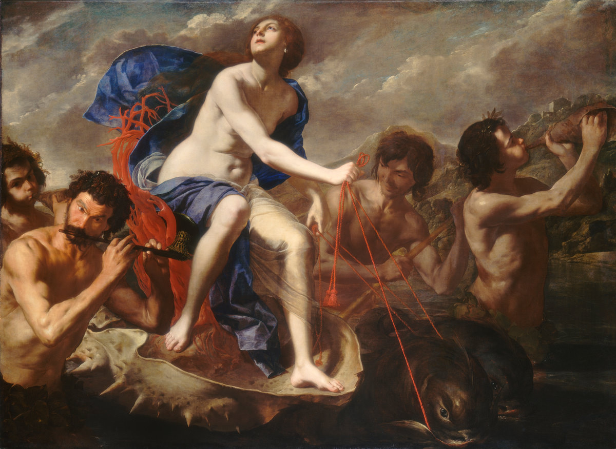 O Triunfo de Galateia, 1650, Óleo sobre tela, Bernardo Cavallino, National Gallery of Art, Washington, Patrons' Permanent Fund.