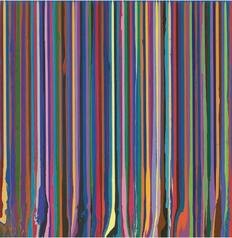 Puddle Painting: Swedish Blue, 2009, de Ian Davenport.