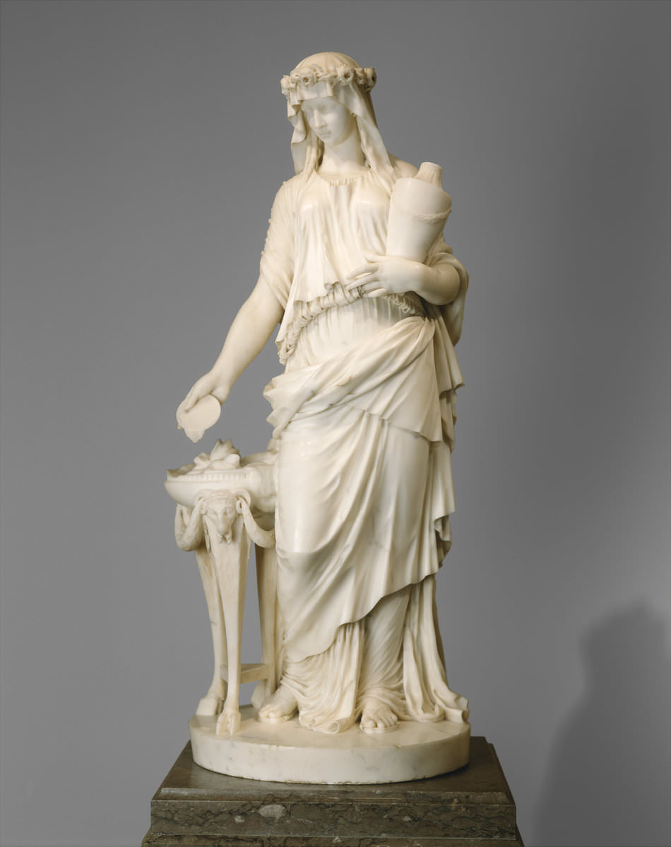 Fig. 6 – Uma donzela, Clodion 1738 – 1814, datada 1770, mármore, escultura, National Gallery of Art, Crédito Samuel H. Kress Collection.
