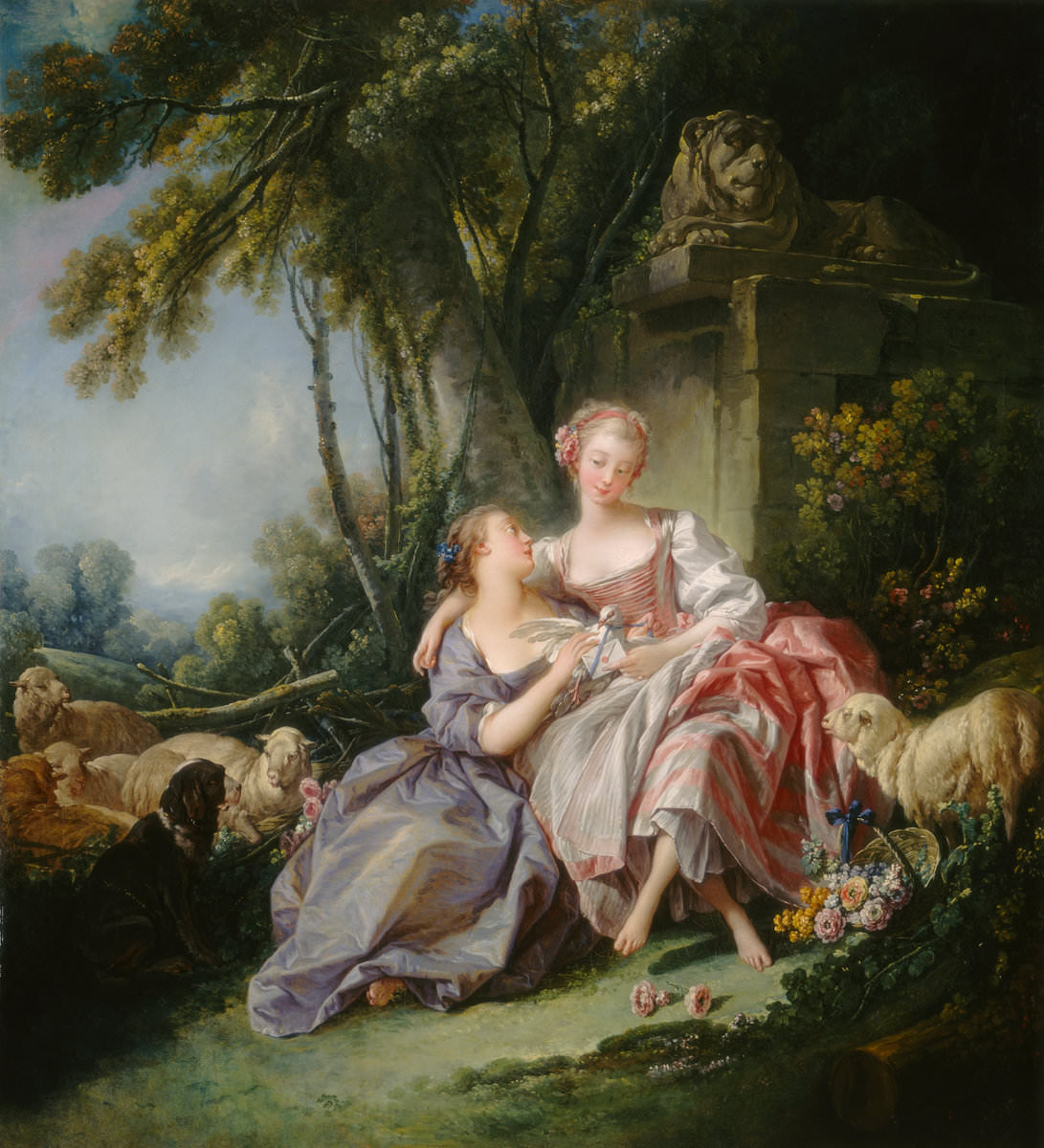 Fig. 8 – A Carta de Amor, François Boucher 1703 – 1770, datada 1750, óleo sobre tela, pintura, National Gallery of Art, Crédito Timken Collection.