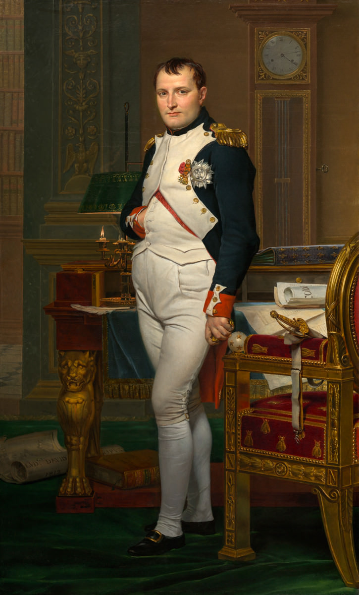 Fico. 5 – L'imperatore Napoleone nel suo studio alle Tuileries, Jacques-Louis David, 1812. Galleria Nazionale d'Arte, Washington. Credito: Samuel H. Kress Collection.