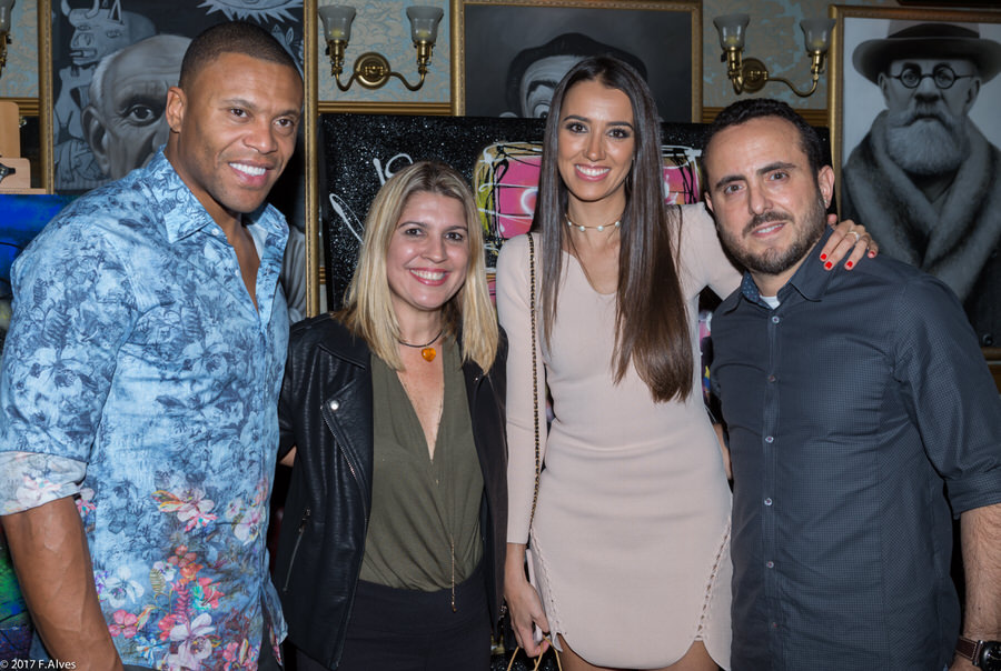 Julio Baptista, Soco Freire, Silvia (esposa Julio Baptista) e Isaac Azar. Foto: Frank Alves / MF Press Global.
