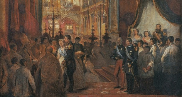 "Fig. 11 -Study for ""wedding of Princess Isabel"", Victor Meirelles de Lima, 1864. Photo: Victor Meirelles Museum. (featured)."