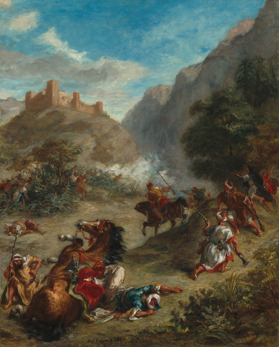 Fig. 8 – Árabes brigando nas Montanhas, Eugène Delacroix, 1863. National Gallery of Art, Washington. Chester Dale Fund.