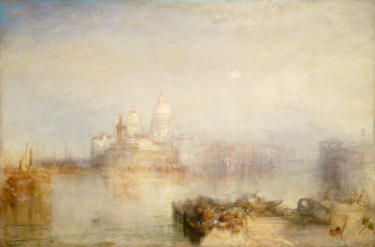 Fig. 15 – A Alfândega e Santa Maria da Saúde, Veneza, Joseph Mallord William Turner, 1843. National Gallery of Art, Washington. Dado em memória do governador Alvan T. Fuller by The Fuller Foundation, Inc.