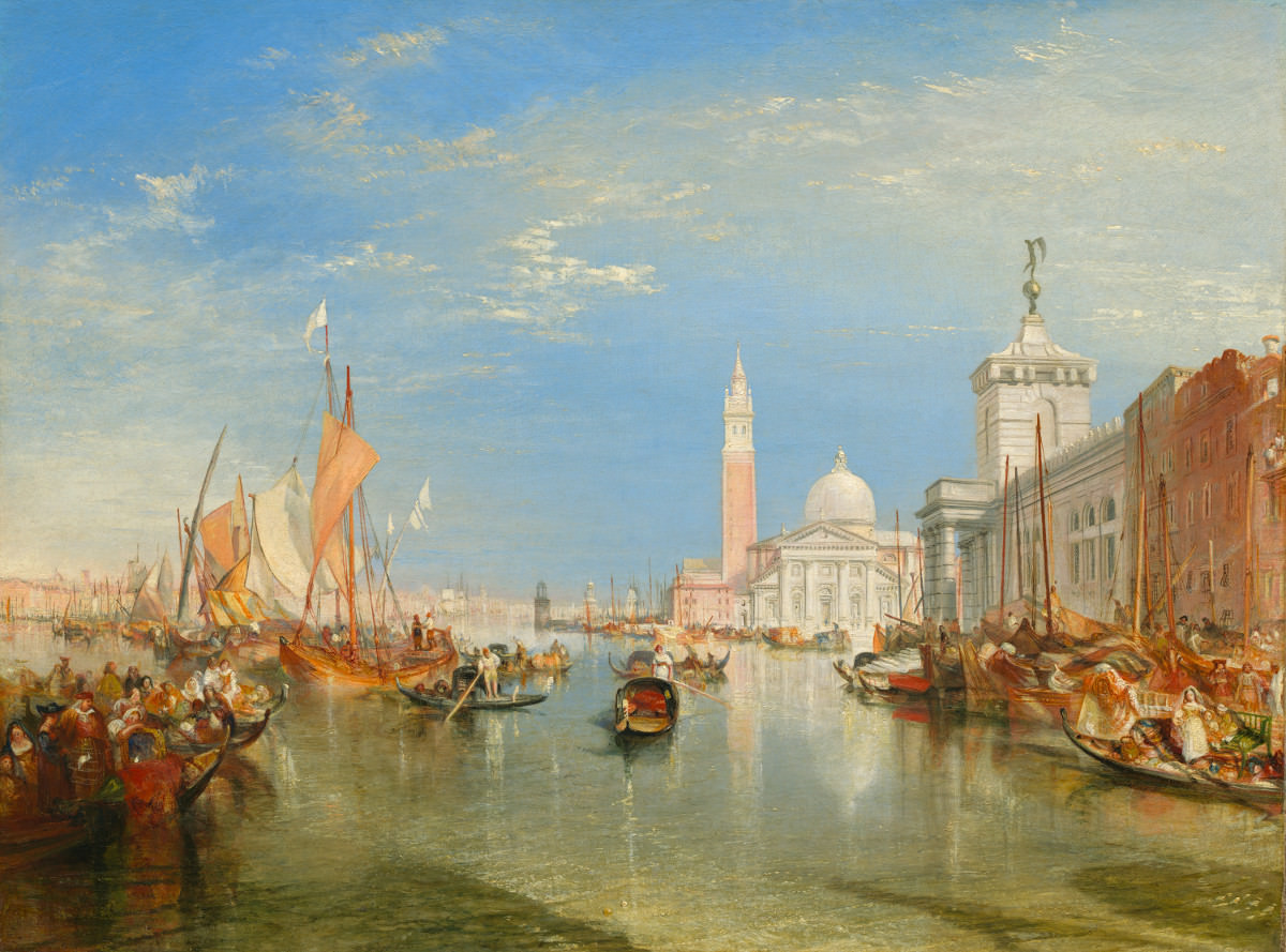 Fig. 12 – Veneza: A Alfândega e San Giorgio Maggiore, Joseph Mallord William Turner, 1834. National Gallery of Art, Washington. Widener Coleção.