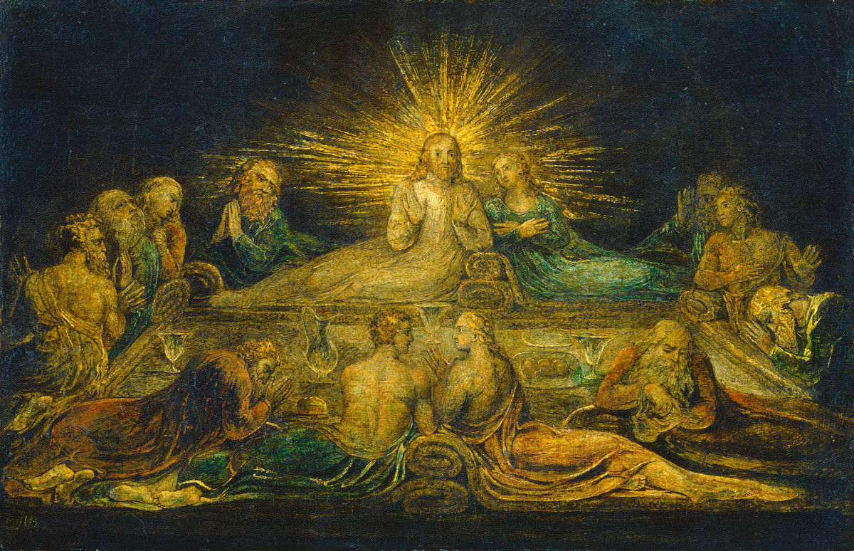 Fig. 16 – A Última Ceia, William Blake, 1799. National Gallery of Art, Washington. Rosenwald Coleção.