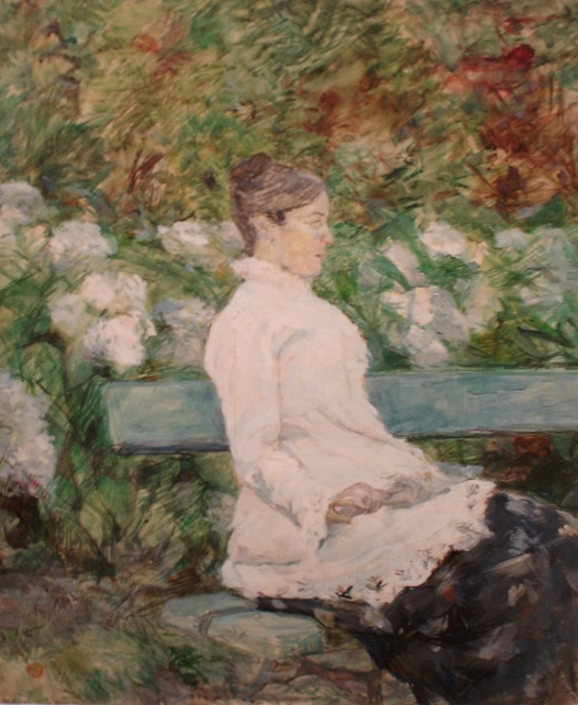 Fig. 1 -The Countess Adele de Toulouse-Lautrec in Malromé garden, Toulouse Lautrec, 1880. Photo: SÃO PAULO MUSEUM Of ART Collection.