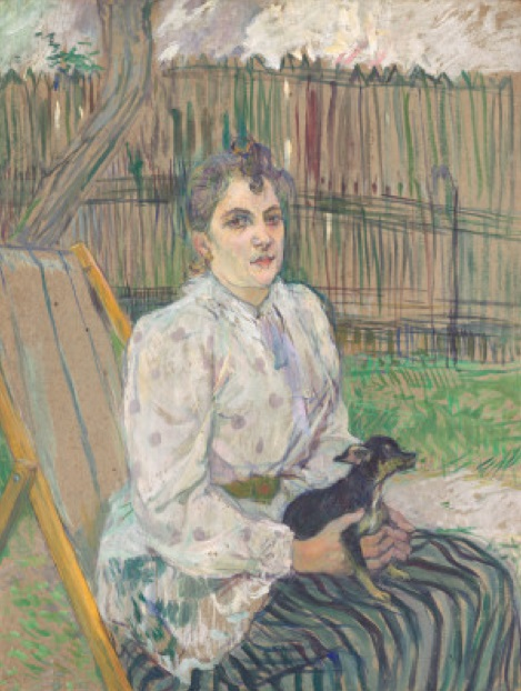 Fig. 8 -Woman with Dog, Toulouse-Lautrec, 1891. Photo: Disclosure.