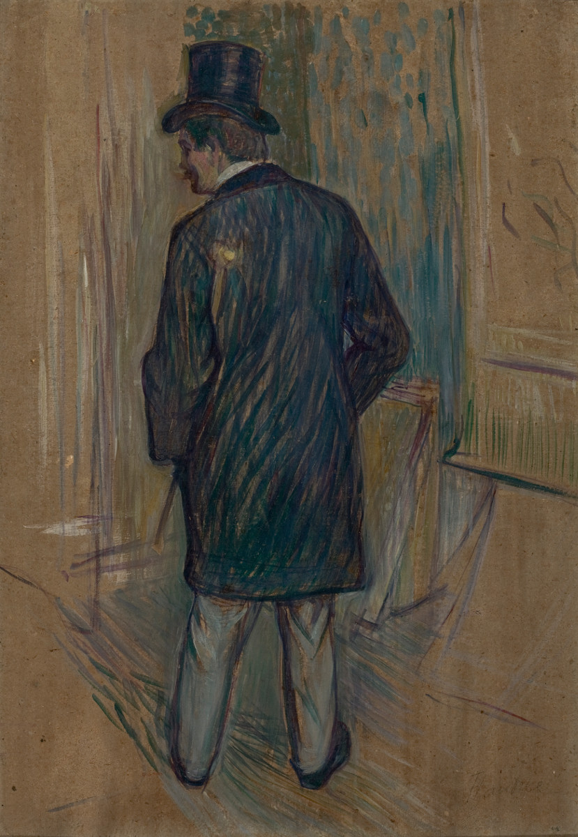 Fig. 10 -Mr. Louis Pascal seen from the back, Toulouse-Lautrec, undated. Photo: Disclosure.