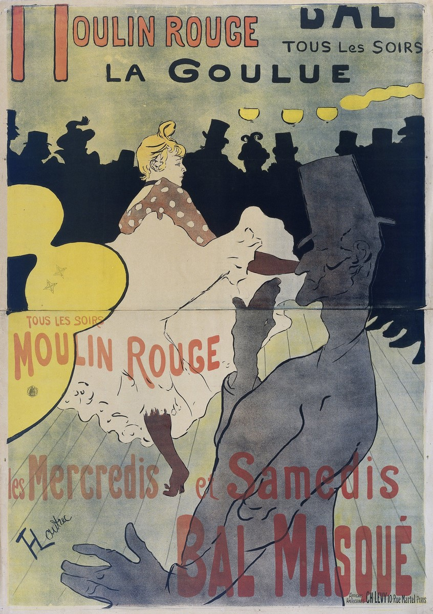 Fig. 15 -Moulin Rouge (La Goulue), Toulouse-Lautrec, 1891. Fotos: Divulgación.
