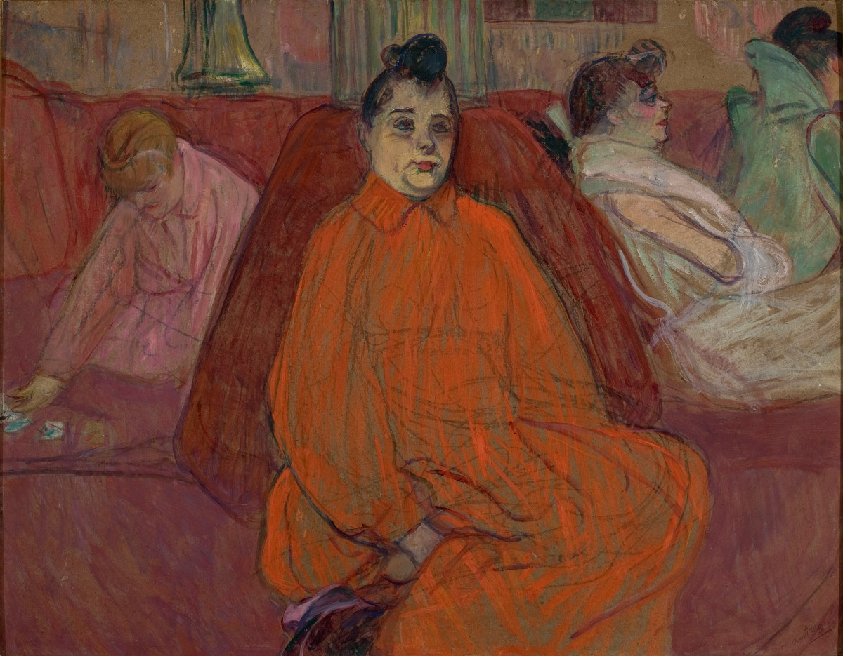 Figue. 12 -Le canapé, Toulouse-Lautrec, 1893. Photos: Collection Musée d'ART de SÃO PAULO.