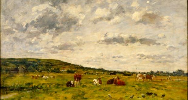 Cows in the pasture of Eugène Louis Boudin. Photo: Disclosure.