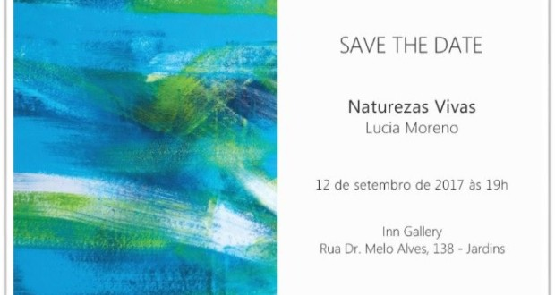 Invitation salon Natures de Lucia Moreno sur Gallery Inn. Divulgation.