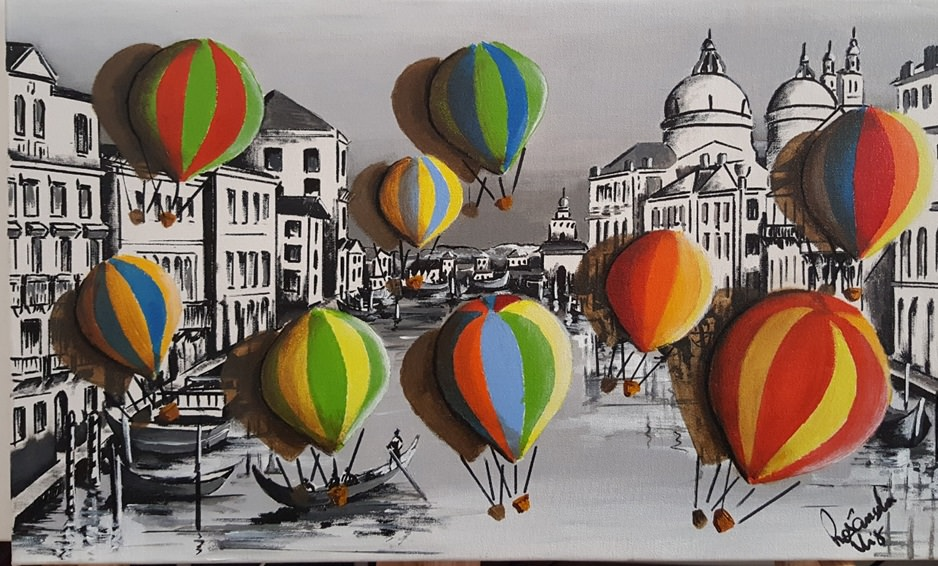 Fig. 4 -Balloons about Venice, acrylic on canvas, Rosângela Vig.