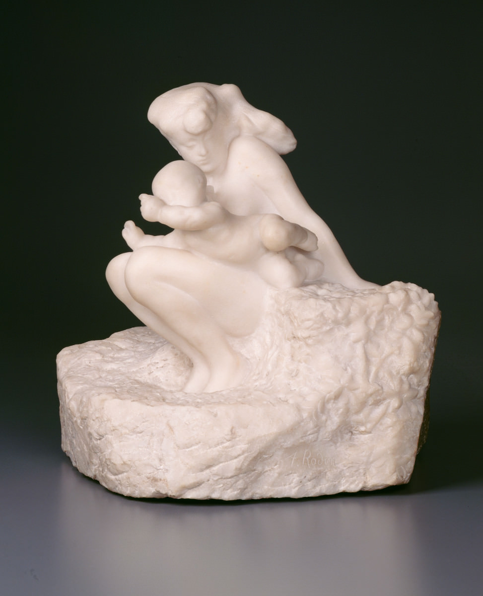 Feige. 14 -Frau mit einem Kind, Auguste Rodin, 1885. National Gallery of Art, Washington. Gabe der Frau. John W. Simpson.