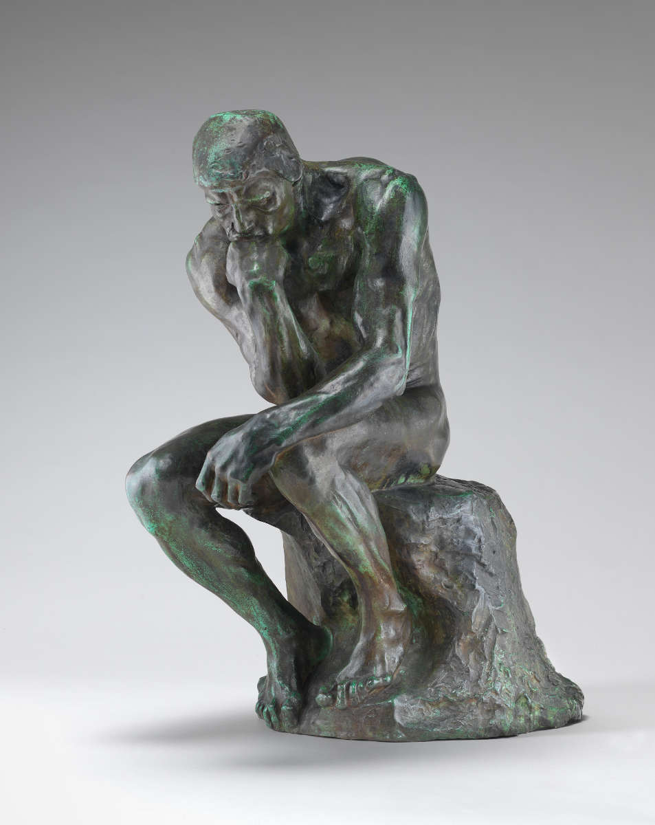 Feige. 15 -Der Denker, Auguste Rodin, Modell 1880, Druckguss 1901. National Gallery of Art, Washington. Gabe der Frau. John W. Simpson.