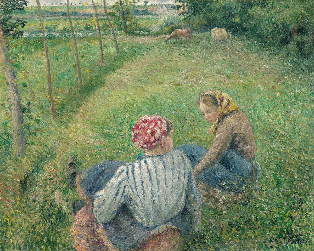 Fig. 11 -Young Farmers Resting in the fields near Pontoise, Camille Pissarro, 1882. National Gallery of Art, Washington. Collection of Mr. and Mrs. Paul Mellon.