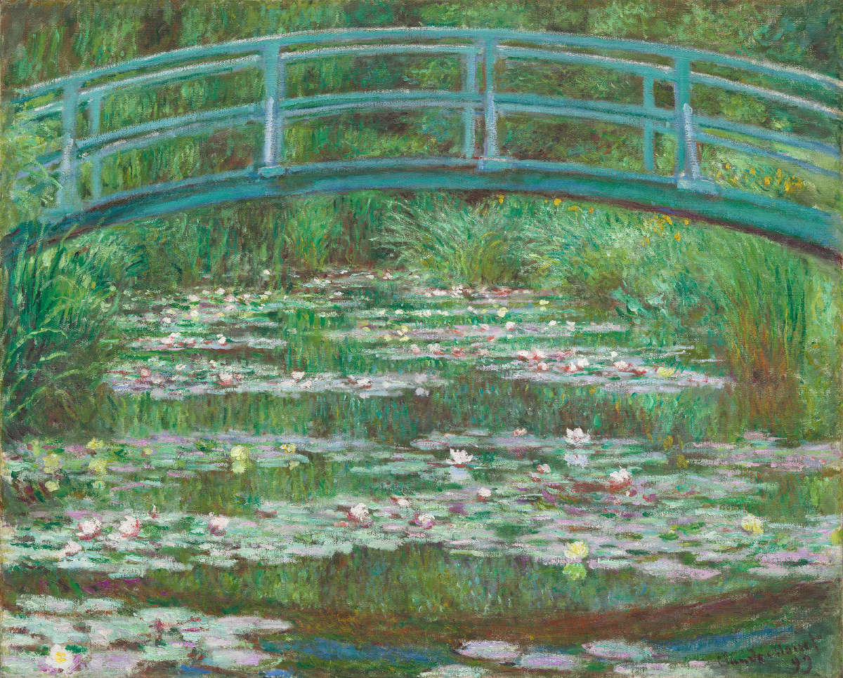 Fig. 7 -The Japanese Footbridge, Claude Monet, 1899. National Gallery of Art, Washington. Victoria Nebeker Coberly gift, in memory of your son John W. Mudd, and Walter H. and Leonore Annenberg.