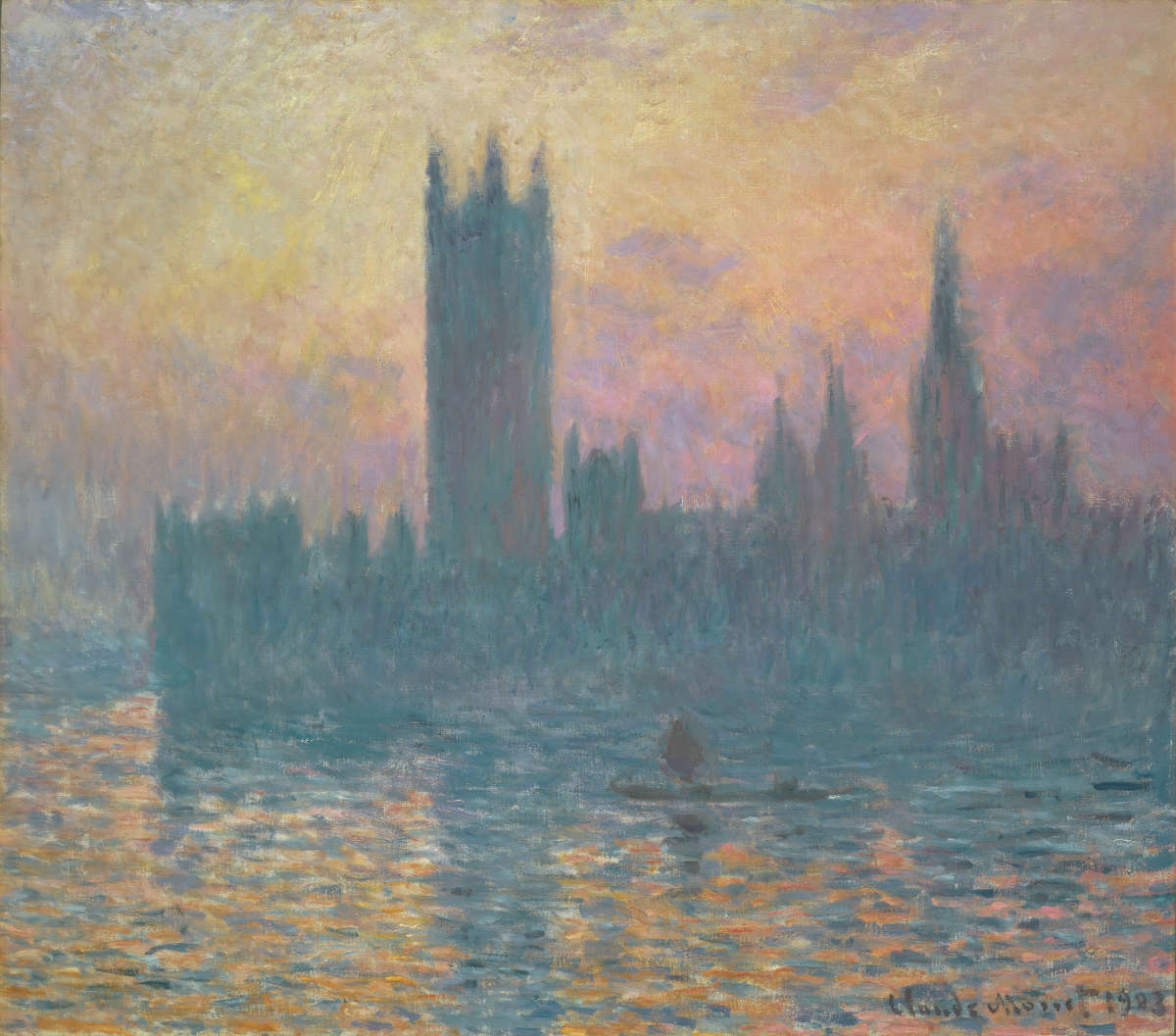 Fig. 5 -Las casas del Parlamento, Sunset, Claude Monet, 1903. National Gallery of Art, Washington. Colección de Chester Dale.