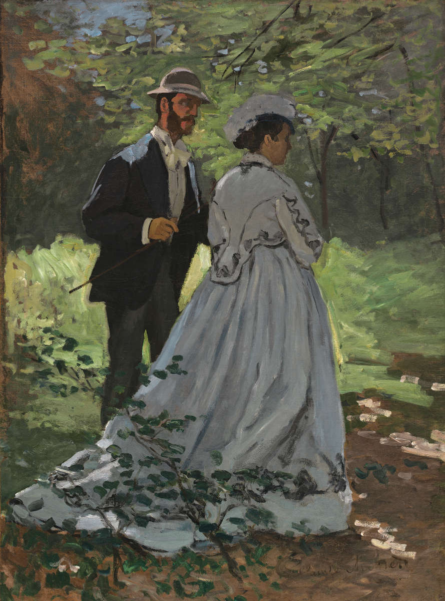 Feige. 1 -Bazille und Camille, Studie des Frühstücks im Feld, Claude Monet, 1865. National Gallery of Art, Washington. Ailsa Mellon Bruce Collection.