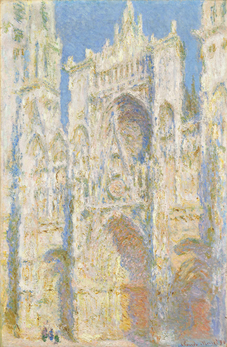 Feige. 4 -Die Kathedrale von Rouen, Westfassade im Sonnenlicht, Claude Monet, 1894. National Gallery of Art, Washington. Chester Dale Collection.