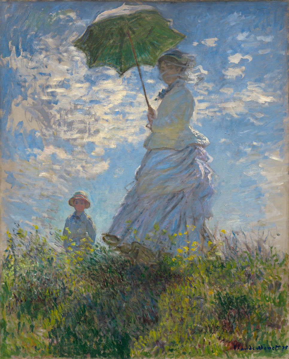 Fig. 2 -Woman with parasol, Madame Monet and your son, Claude Monet, 1875. National Gallery of Art, Washington. Collection of Mr. and Mrs. Paul Mellon.