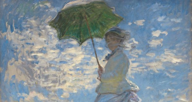 Fig. 2 -Woman with parasol, Madame Monet and your son, Claude Monet, 1875. National Gallery of Art, Washington. Collection of Mr. and Mrs. Paul Mellon. Featured.