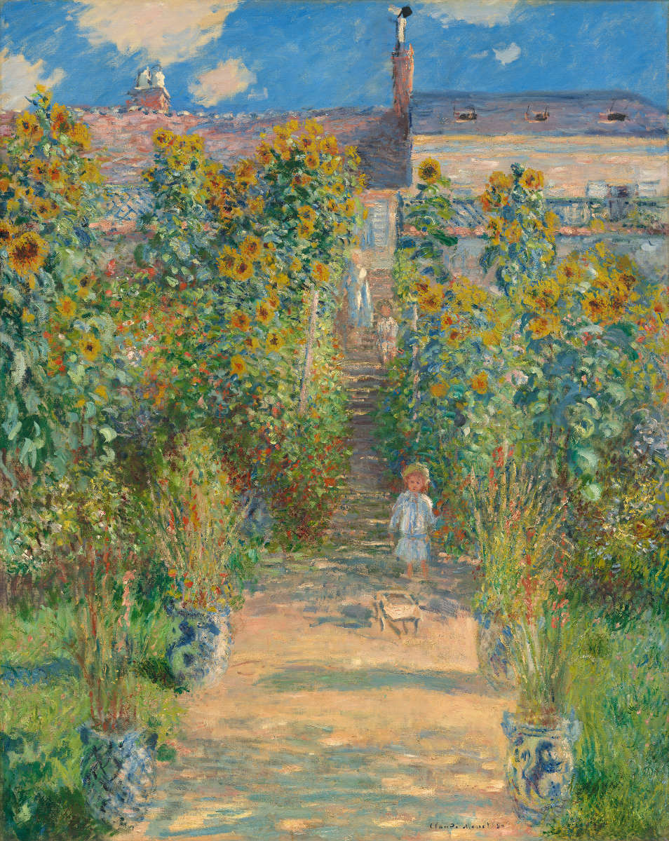 Feige. 3 – Der Künstler Garten bei Vétheuil, Claude Monet, 1880. National Gallery of Art, Washington. Ailsa Mellon Bruce Collection.