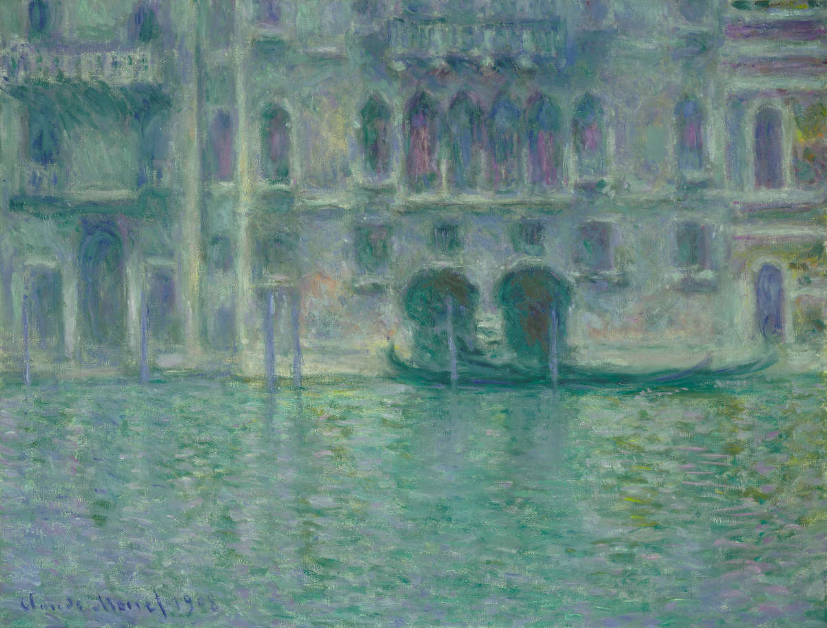 Feige. 6 -Palazzo da Mula, Venedig, Claude Monet, 1908. National Gallery of Art, Washington. Chester Dale Collection.