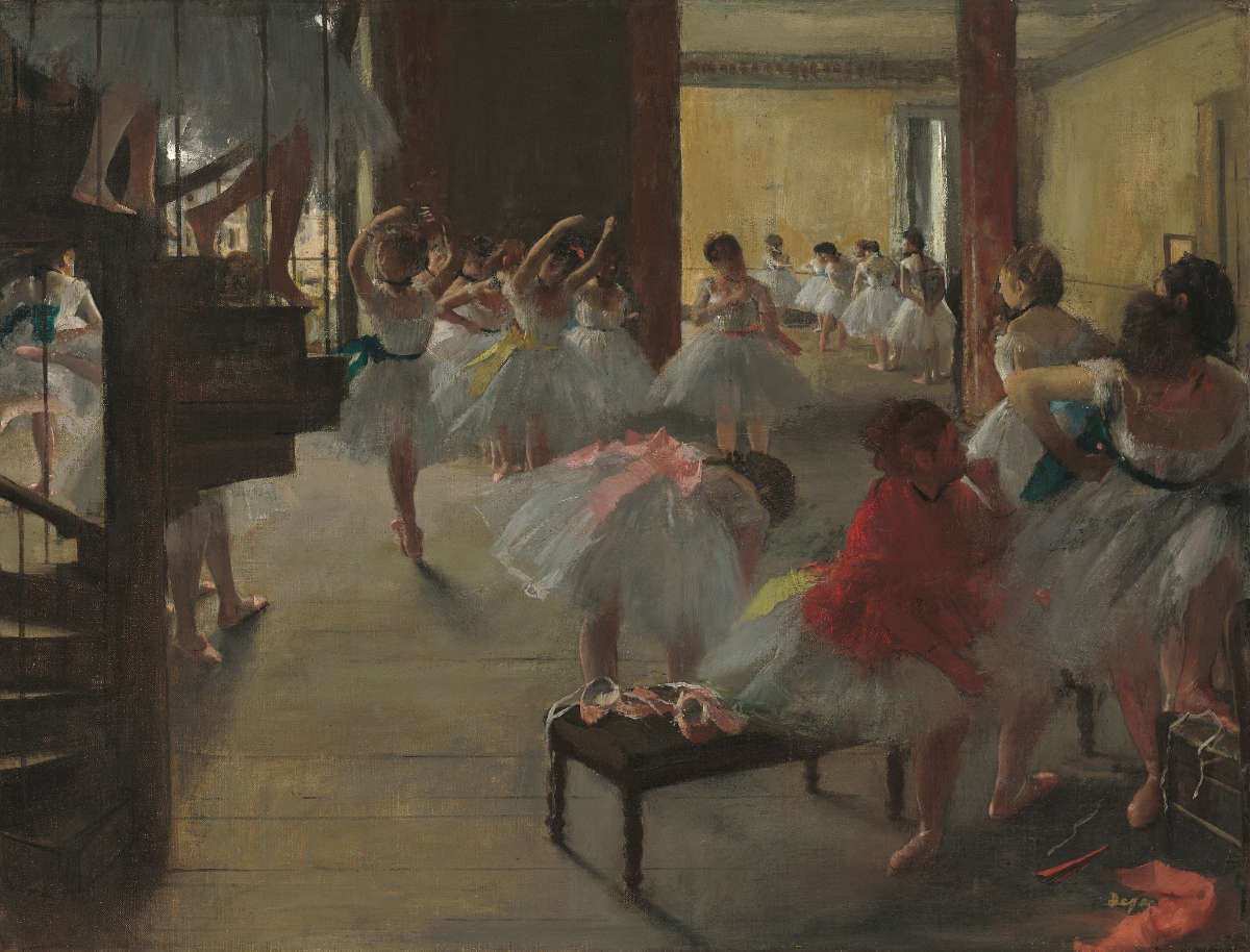 Feige. 8 -Tanzkurs, Edgar Degas, 1873. National Gallery of Art, Washington. Corcoran Sammlung (William der. Clark-Sammlung).