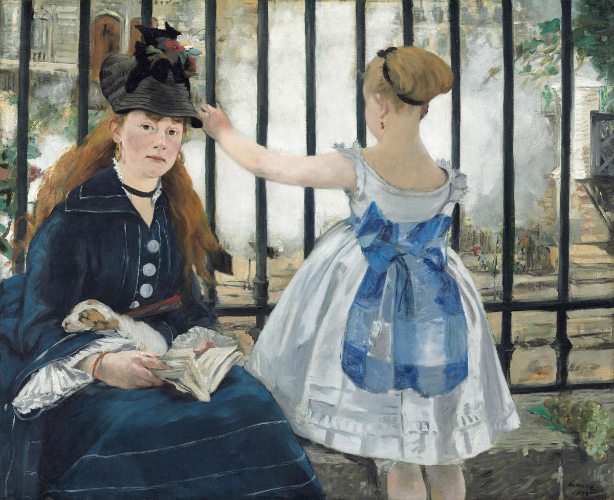 Fig. 12 -El ferrocarril, Edouard Manet, 1873. National Gallery of Art, Washington. Regalo de Horace Havemeyer en memoria de su madre, Louisine W. Havemeyer.