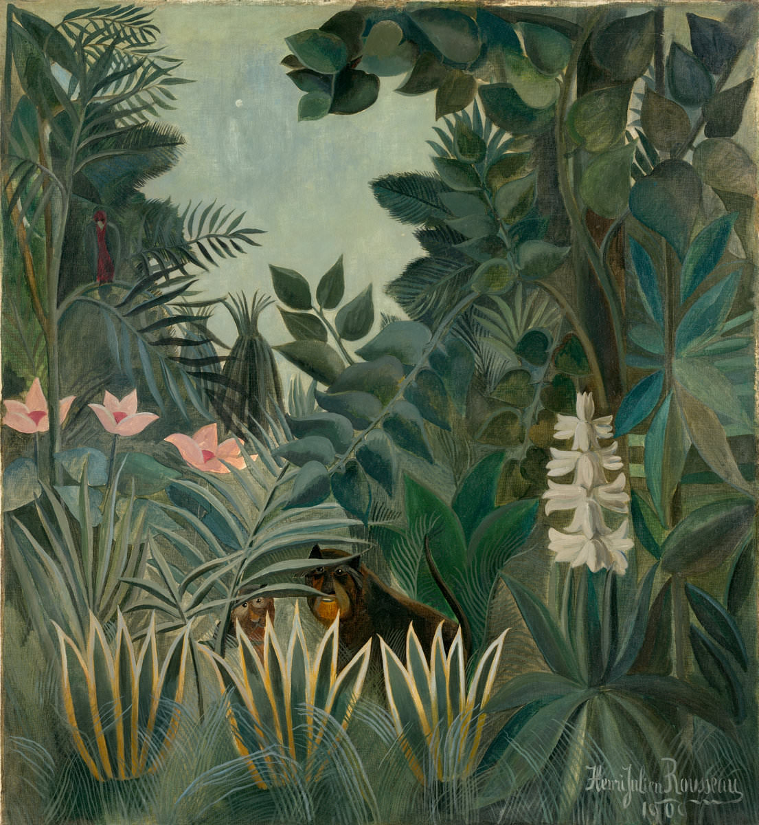 Fig. 17 -La selva, Henri Rousseau, 1909. National Gallery of Art, Washington. Colección de Chester Dale.