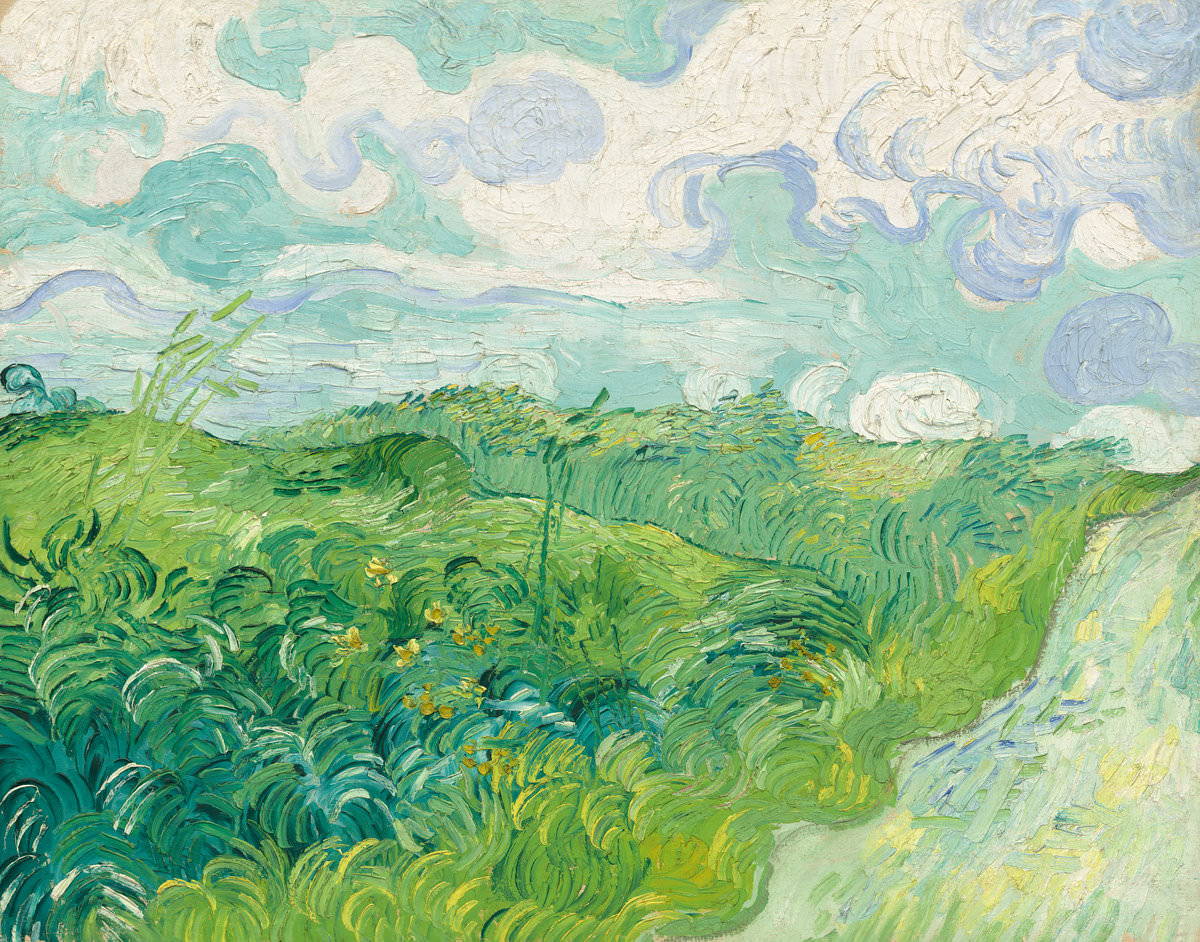 Feige. 16 -Grüne Weizenfelder, Vincent Van Gogh, 1890. National Gallery of Art, Washington. Herr Sammlung. und Frau. Paul Mellon.