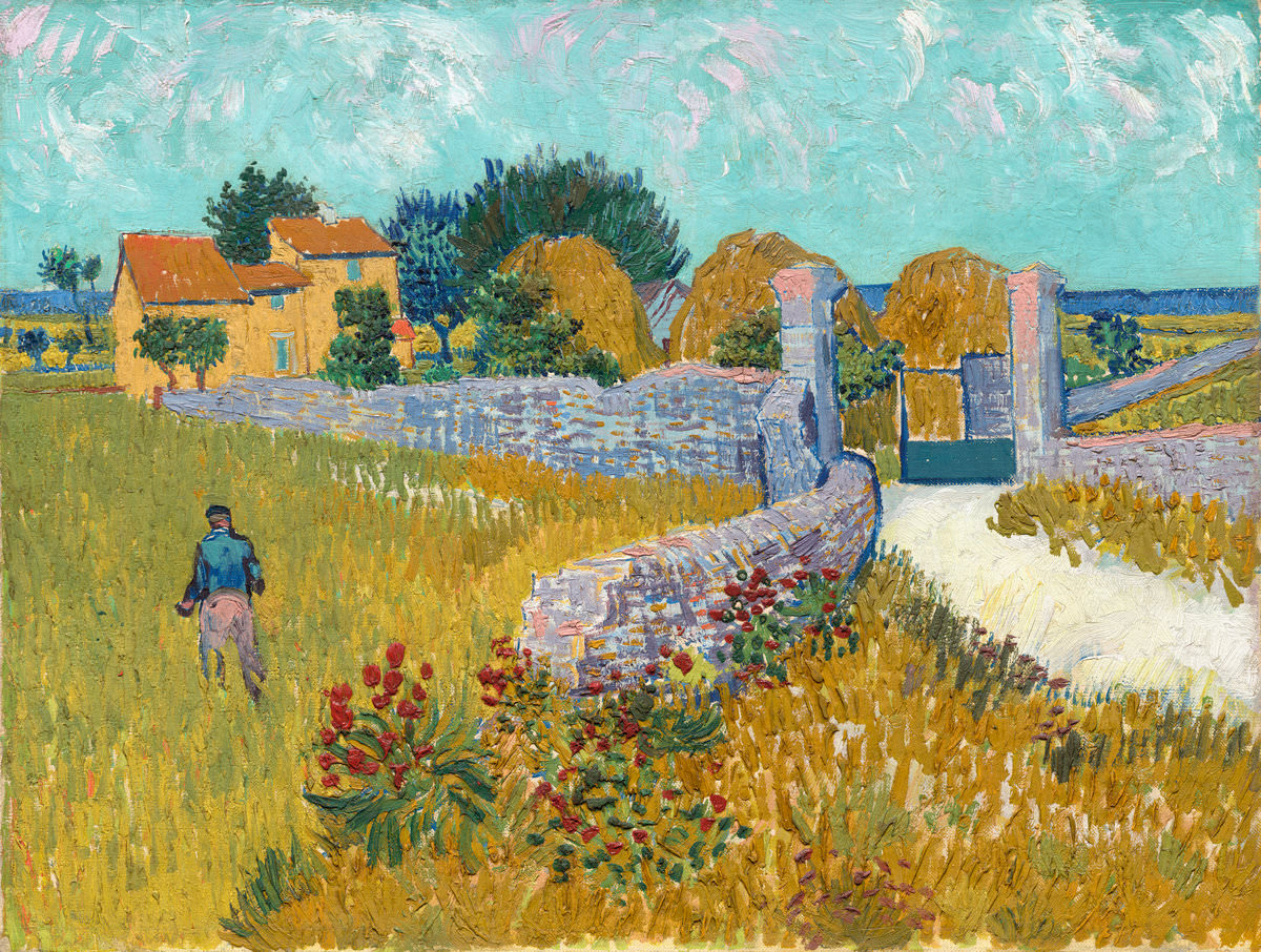 Feige. 13 -Bauernhaus in der Provence, Vincent Van Gogh, 1888. National Gallery of Art, Washington. Ailsa Mellon Bruce Collection.
