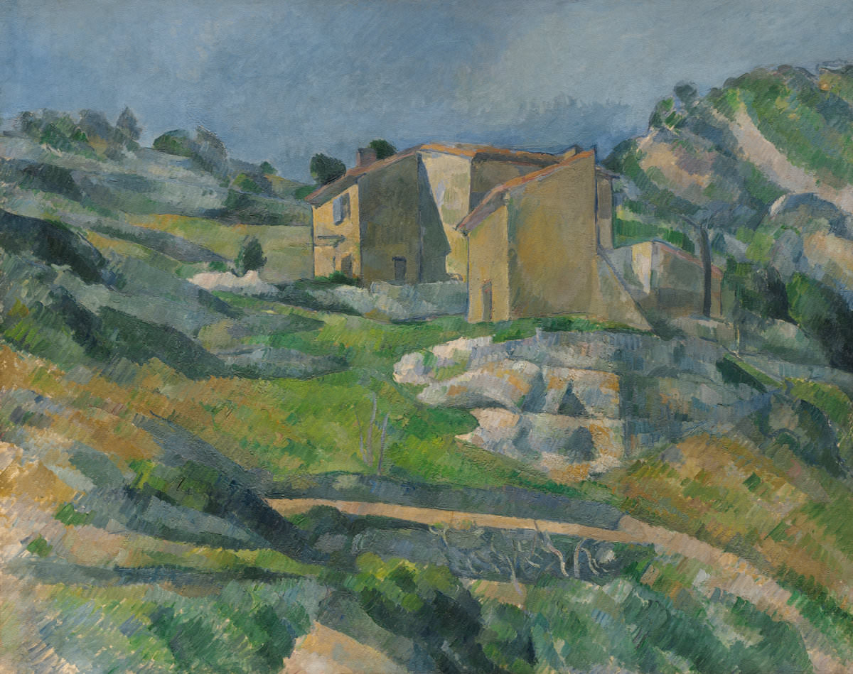 Fig. 8 -Casas de vacaciones en Provenza, el valle acogedor cerca de L'estaque, Paul Cézanne, 1880. National Gallery of Art, Washington. Colección Sr.. y Sra.. Paul Mellon.